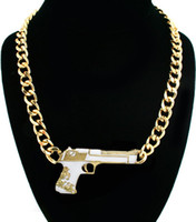 designer inspired jewelry - New Trendy Gold Plated Gun Pistol Pendant Chain Designer Inspired Necklace Jewelry for Women OF108 order lt no tracking