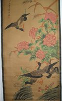duck dynasty - Chinese painting scroll Duck by Qi Baishi