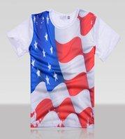 american flag t shirt - new American flag printing T shirt d t shirt men o neck Fashion t shirts short sleeve Men s t shirt size M L XL