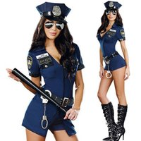 sexy halloween costumes - Ladies Sexy Police Officer Swat Costume Uniform Halloween Adult Sex Cop Cosplay Slim Dress For Women