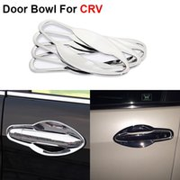 auto tensioner - New ABS Chrome Styling Car Door Bowl Cover Frame For Honda CRV Auto Accessories High Quality