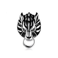 animations cool - Sterling Silver Japanese Animation Cool Final Fantasy VII Cloud Cloudy Wolf Metal Clip Earrings For Gift