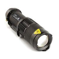 Uniquefire mini led flashlight - Alonefire TK68 CREE XP E LED Flashlight Portable Mini Flashlight Zoom flashlight Lamp For AA Black