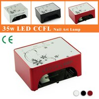 automatic and manual - LKE W CCFL LED Nail UV Gel Curing Lamp Economic and Durable Multifunction Manual and automatic nail dryer EU AU US UK Plug
