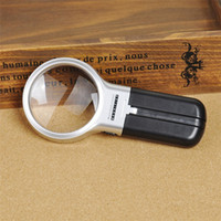 Loupe de lecture de lecture en HD Lumière d'illumination LED 3X Magnification Lupa Optical Lenses Handheld + Loupe pliable 1pc