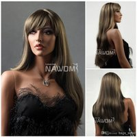 Wholesale Kanekalon European - european hair wigs bloned flaxen wigs for women hair weaves Synthetic fiber of 100% Kanekalon 1pc Lot Free Shipping 0729S678-8