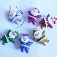 Wholesale 2016 Merry Christmas New Arrivals Small Santa Claus Toys Christmas tree Ornaments Accessories Perfect Christmas gift