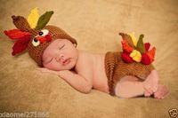 baby turkey costume - Hi Q Turkey Newborn Baby Knit Costume Crochet Outfits Photography Photo Props