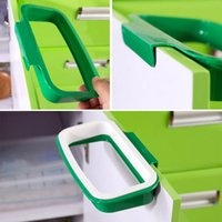 Wholesale Can wash the kitchen door back type ambry trash can support bag to receive bag shelves TT3