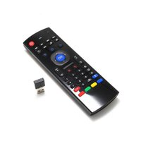 Wholesale X8 Air Fly Mouse MX3 GHz Wireless Keyboard Remote Control with without Mic for Android TV Box Smart IPTV DHL