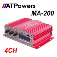 Wholesale 4CH Power Audio MP3 Speaker Amplifier Kinter MA Amplifier For Car DVD USB with remote control