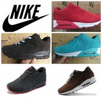 name brand shoes - Nike air max VT fur leather men retro winter sports shoes brand name classic maxes sports trainers shoes all black brown blue red