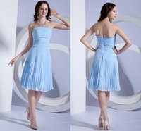 Cheap Chiffon Cheap Homecoming Dresses Strapless Open Back Zipper Ruffle Sleeveless Cocktail Dresses Sexy Party Dresses Fashion Short Prom Gowns