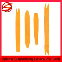 Wholesale Plastic Auto Vehicle Dismantling Device Removal Pry Tool Kit Set For Car Audio Ventilation Orange CDE_909