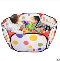 Wholesale Indoor Outdoor Children kids baby tent Playing pool Toy foldable Color point play game house