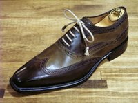 Cheap custom handmade shoes men's dress shoes genuine leather oxford shoesHD-J028
