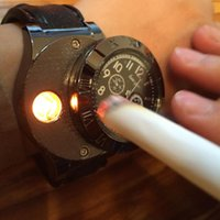 analog charge - New Military USB Charging sports Lighter Watch Men s Casual Quartz Wristwatches with Windproof Flameless Cigarette Cigar Lighter