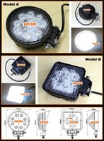 headlight assembly - 1pcs V V W High Power led work light For for Auto car head lamp tractor headlight