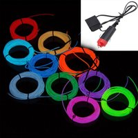 Wholesale M Flexible Neon Light Glow El Strip Tube Wire Colors V Inverter Las Luces Luzes Luci Leuchten Verlichting