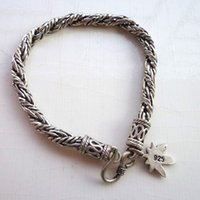 chain hooks - Unique Design Men Charm Chain High Quality Silver Vintage Silver Chain for Four Season Men Fashion Jewelry Link for C201