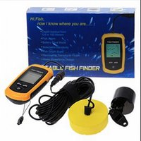 Wholesale HOT Mini Fish Finder Portable Sonar Wired LCD Fish depth Finder Alarm M ft Easy and portable High quality