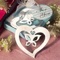 Wholesale A pair of lovebirds wedding in return Creative and practical gift metal bookmark Europe gift wedding supplies