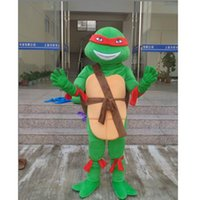Wholesale Free EMS Teenage Mutant Ninja Turtles Mascot costume Cartoon Character Costumes Party Dress Adult Size