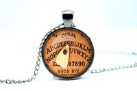 american board - 10pcs Halloween necklace Halloween pendant Cothic Vintage Ouija Board Pendant Glass Photo Cabochon Necklace