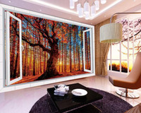 autumn free wallpaper - Large mural papel de parede Autumn D stereoscopic TV backdrop wall sticker Factory Direct 7828k