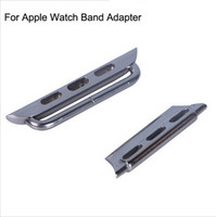 Smart Watches For Apple Rose gold For Apple Watch Wrist Band Connector Watchband Adapter Fastener Metal Steel Connector for iwatch Wristband Strap 38mm 42mm free shipping