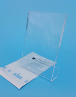 Wholesale Express Shipping Clear L Acrylic Sign Display Paper Card Table Label Holder Stand Thick mm Vertical x124mm High Qulity