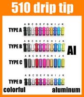 Wholesale Drip Tips Drip Tip Wide Bore Serial Ecig Accessories Aluminum For Rda Rba E Cigarette Atomizer Mini Protank3 Subtank Colorful FJ156