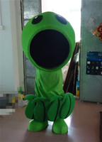 big green animations - Custom Made Plants Vs Zombies Mascot Costume Game Animation Cartoon Clothing Green Body Black Big Mouth Cartoon Costume