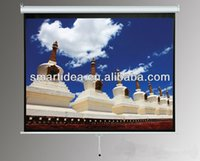 electric projection screen - Top quality quot inch HD home cinema electric projection screen with remote control fedex