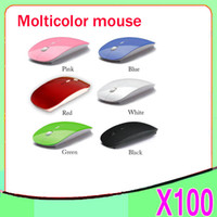 Wholesale DHL Fashion GHz USB Optical Blue Light Wireless Mouse USB Receiver Mice Cordless Game Computer PC Laptop Desktop ZMHM365 ZY SB