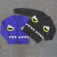 Wholesale INS Boys And Girls Children Cardigan Kids Sweaters Clothing Cartoon Cotton Babies Sweaters Cardigan Lovely Clothes