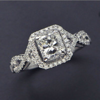 Wholesale ift ideas for female friends choucong Antique Jewelry simulated diamond Sterling Silver Engagement Wedding Ring Sz