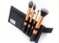 Wholesale hot selling High Quality Real Tech New Makeup Brush Set Kit Core Collection Gold Brushes