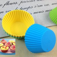 Wholesale Chocolate Candy Muffin Cookie Baking Mould Jelly Ice Shaper Cubes DIY Silicone Cake Muffin Cupcake Case Liner Baking Cup Mold