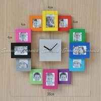 antique decorating ideas - New Gift Idea Decorate Family Home Multi Color Picture Photo Frame Quartz Wall Clock Drop Shipping order lt no track
