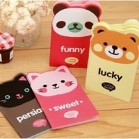 Wholesale Hot Sale Special Offer Loose Leaf No Stickers Cute Stationery C438 Color Page Cartoon Animal Shaped Memo Pad Notebook