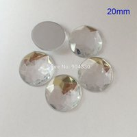 Wholesale Clear MM Round Flatback Rhinestone Triangle Faceted Acrylic Diamond DIY Craft Jewelry Accessories