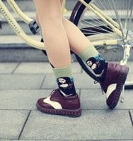 acrylic shoe paint - autumn winter women socks cotton innovative painting pattern series casual shoes lady socks