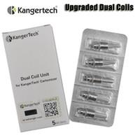 Wholesale 100 Original Kanger Upgraded Dual Coils for kangertech aerotank mega mini protank evod glass T3D Atomizer