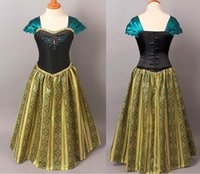 Wholesale Costumes Frozen Cartoon character Princess Anna dress silk and cotton cloth