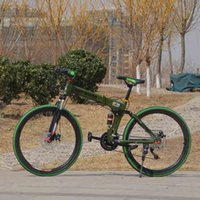 Wholesale folding bike mountain bike speed inch full suspension High carbon steel spoked wheel multicolored and good quanlity