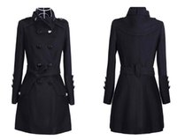 Wholesale Wool Woolen Coat Cashmere Medium long Women s Outerwear Coats Slim Sexy Trench Large Size Ladies Cloth Overcoat