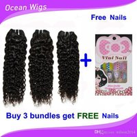 nail color machine - Brazilian Chinese Cambodian virgin hair weaves remy human hair wefts water wave natural color buy get free nails
