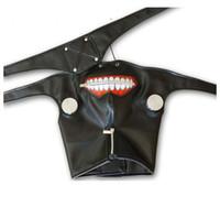 Wholesale Drop Shipping Anime Cosplay Tokyo Ghoul Kaneki Ken Mask Adjustable Zipper Masks PU Leather Mask Helloween