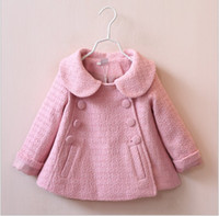 american girl doll lot - Autumn Winter Children Coat Kids Coats For Girl Doll Collar Double Breasted Coats New Baby Girl Pure Color Tench Coats Outwear